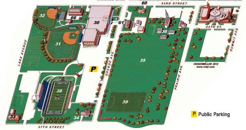 Campus Map, south