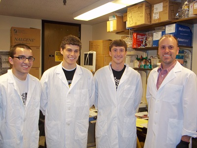Matt Anderson ('14), Dane Schroeder ('14), and Logan Bulock ('13) Dr. Egland
