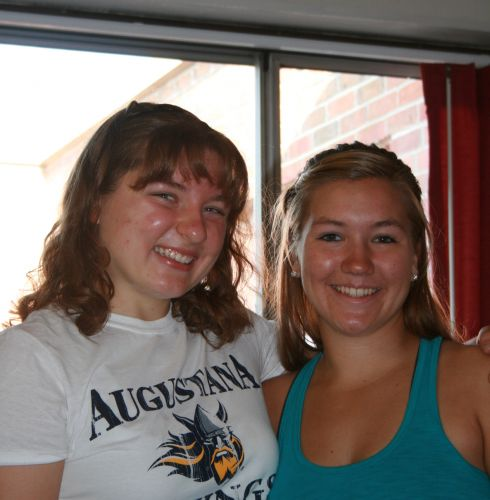 New Freshmen Ashley-Marie Paladie and Emily Koenen