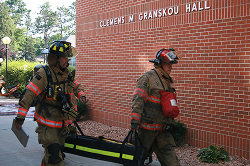 Sioux Falls Fire Rescue training day at Granskou Hall
