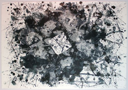 "Sam Francis, ""Untitled,"" lithograph."