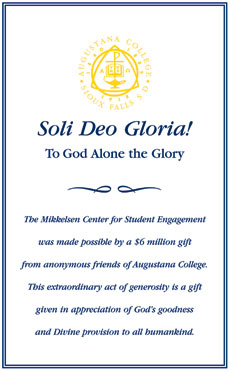 Soli Deo Gloria: Poster recognizing gift to the Mikkelsen Library