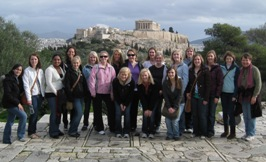 The Greek Connection (Students with the Parthenon in the background)