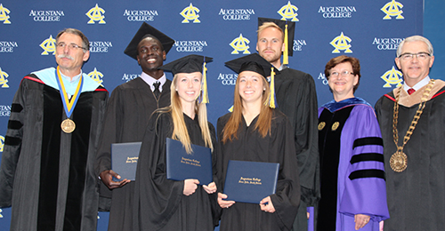 commencement for track student-athletes