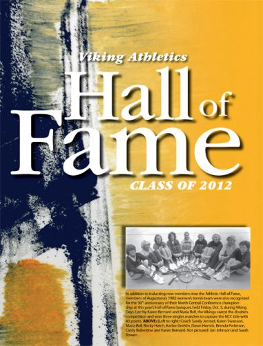 2012 viking athletics hall of fame