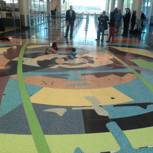 Scott Parson's mosaic design at Minneapolis-St. Paul International Airport