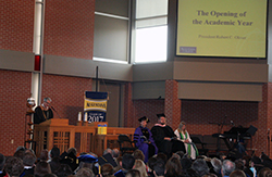 President Oliver at Opening Convocation 2013
