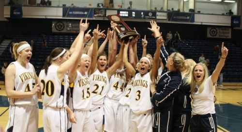 Augustana Women's Basketball Team NCAA Central Region Champs