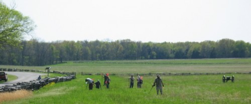 metal detector survey at Pea Ridge National Military Park