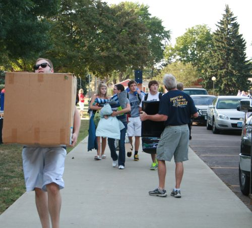 Freshman move in day 2012.