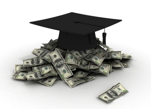 image of mortarboard and cash