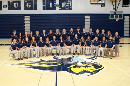 2013-2014 Athletic Training students and faculty