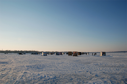 Art shanty project, White Bear Lake, Minnesota