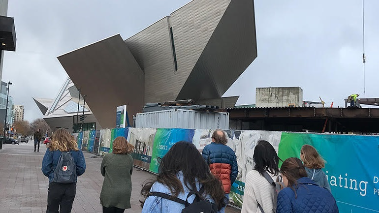 AU Students Touring Denver Art Museum