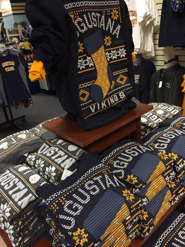 Ugly holiday apparel from Augustana Bookstore