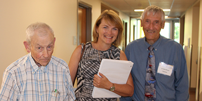 Dr. Arlen Viste, Becky Blue '81, and Dr. Roy Kintner