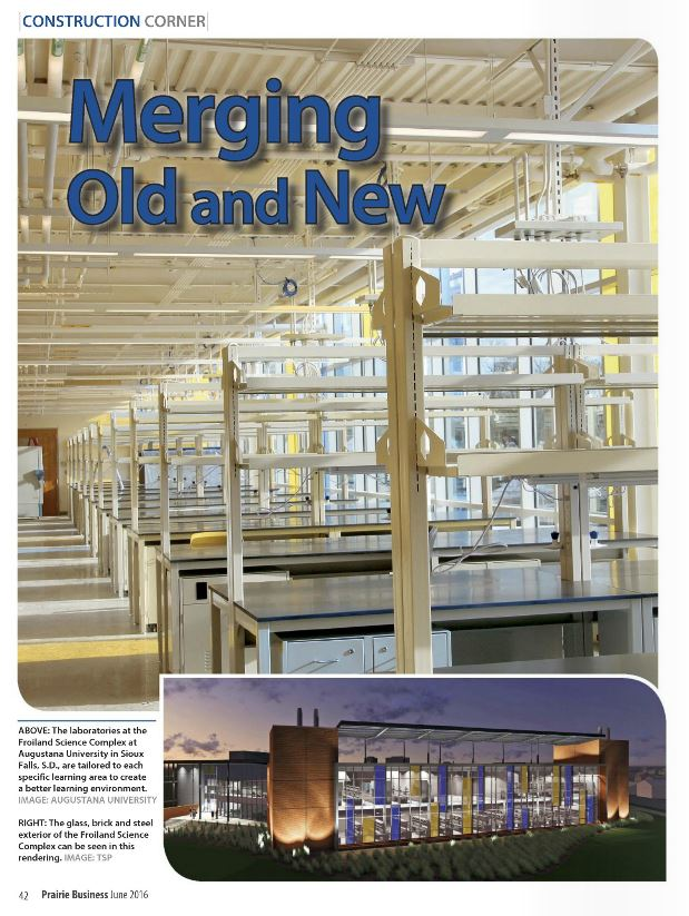 Prairie Business Magazine features Augustana's Froiland Science Complex