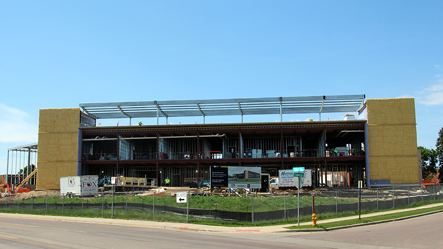 Construction continues on the Froiland Science Complex
