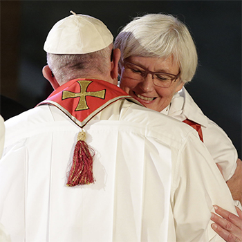 Ref. Dr. Antje Jackelen greets Pope Francis