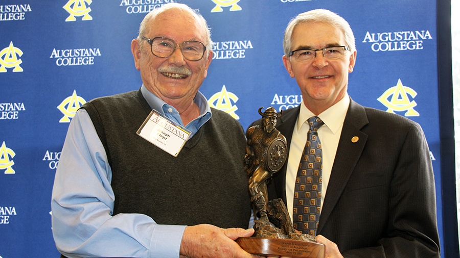 Joe Floyd, Spirit of Augustana Award recipient
