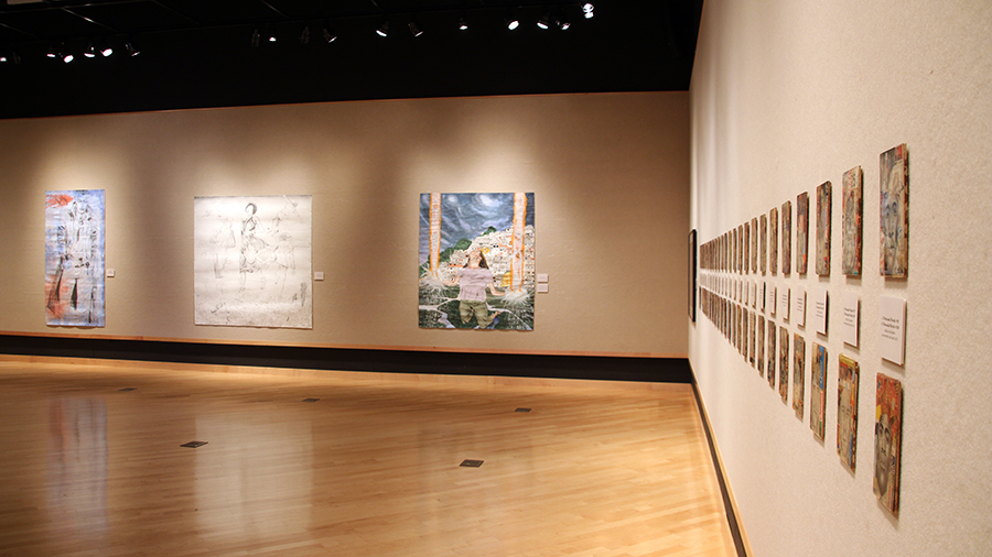 """Lifeline"" is an exhibit by Artist Len Davis on disply in the Eide/Dalrymple Gallery"