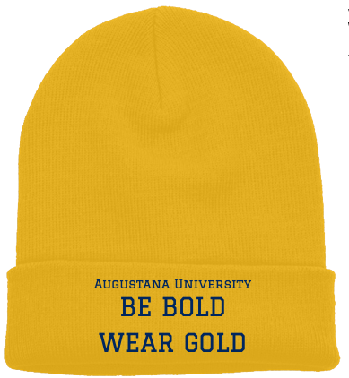 Be Bold. Wear Gold. beanie