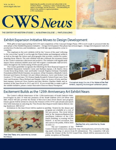 Spring 2014 CWS Newsletter Cover