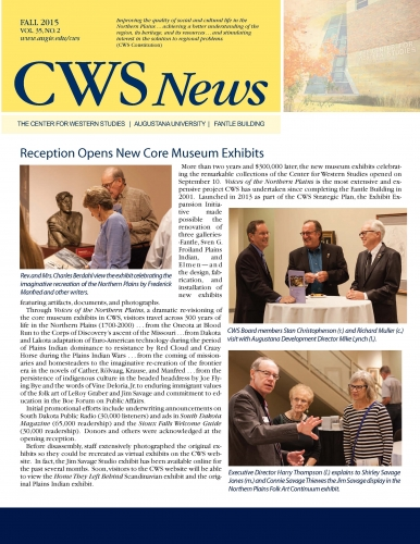 Cover of Fall 2015 CWS Newsletter