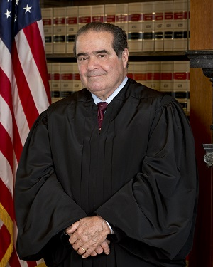 Supreme Court Justice Antonin Scalia, courtesy the Collection of the Supreme Court of the United States