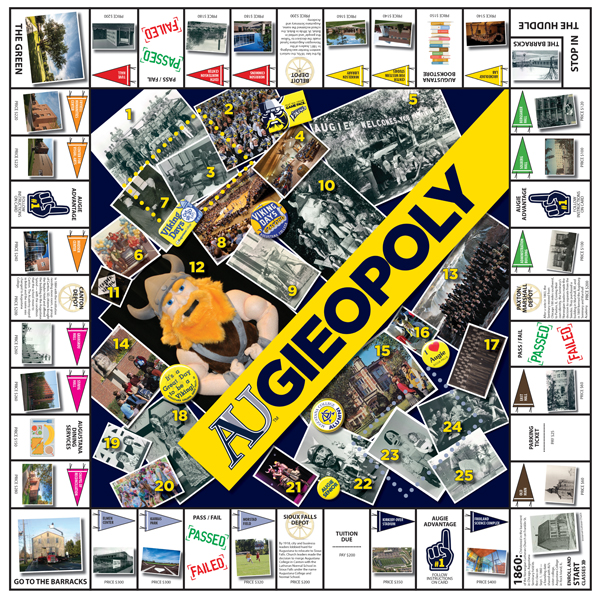 Augieopoly Augustana University - Board game design software
