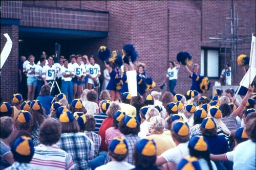 Augustana Pep Rally, Sept. 1979