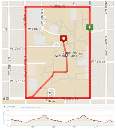 Langskip 5K course elevation